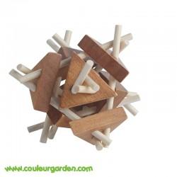 Pack de 4 casse-têtes en bois