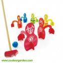 Multi jeux baby 3 en 1 (croquet, quille et adresse)