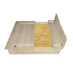 Bac à sable carré (120 x 120 )avec bancs dépliables