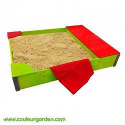 Bac a sable avec coffre 130 x 100