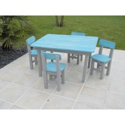 Table rectangulaire pour enfants bleue