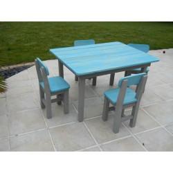 Salon de jardin enfant bleu