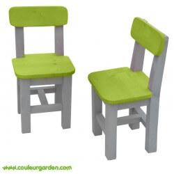 Chaise pour enfant verte x2