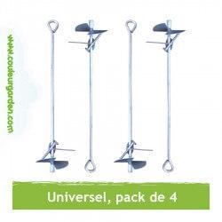 Kit d'ancrage au sol universel pour portique (pack de 4)