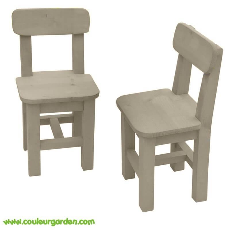 Chaises pour enfant couleur naturelle x2