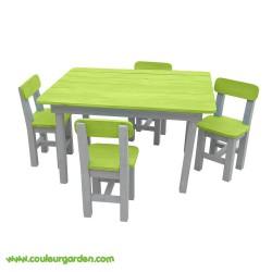 Salon de jardin enfant vert