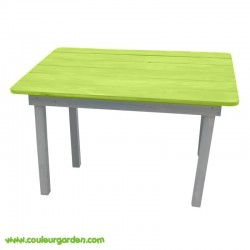 Table rectangulaire pour enfant verte