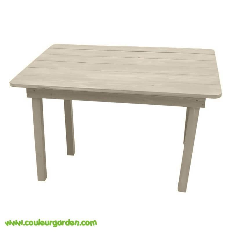 Table rectangulaire pour enfant naturelle