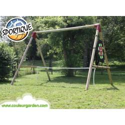 Agrès 4 sports en 1 universel: filet de tennis , volley, badminton, tennis ballon