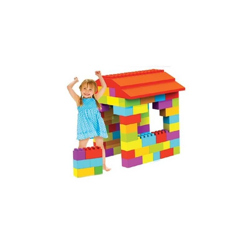 Maison enfant à construire en briques géantes