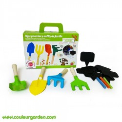 Set petits outils de jardinage : 4 outils + 7 ardoises + 3 craies