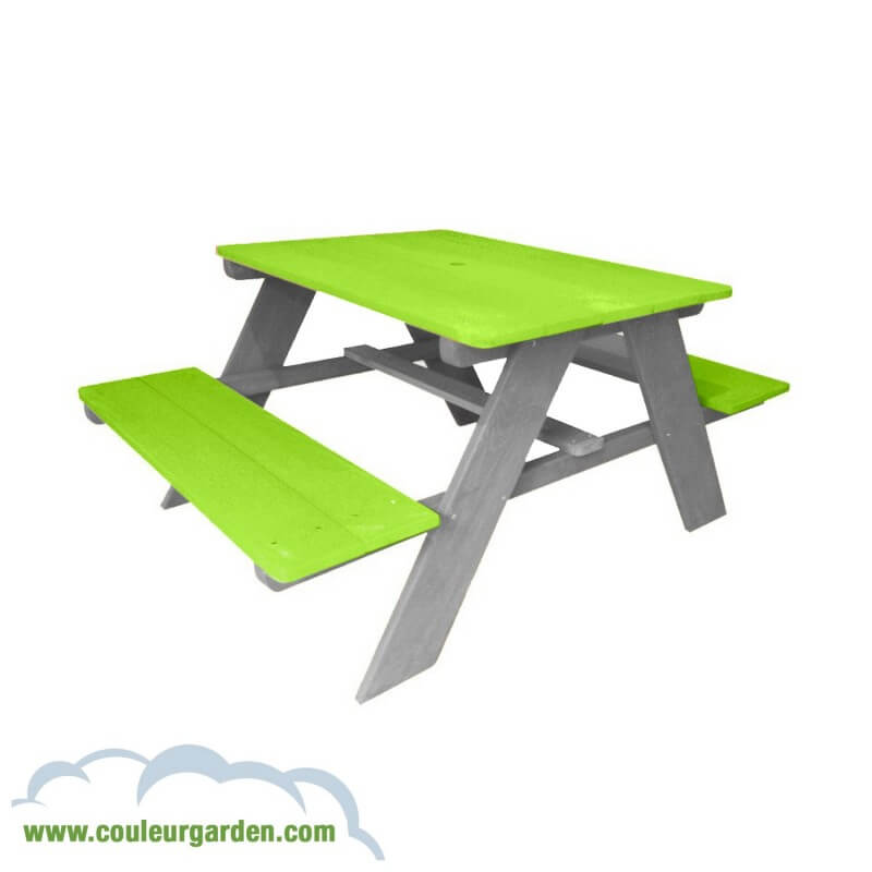 Table pique nique pour enfants verte