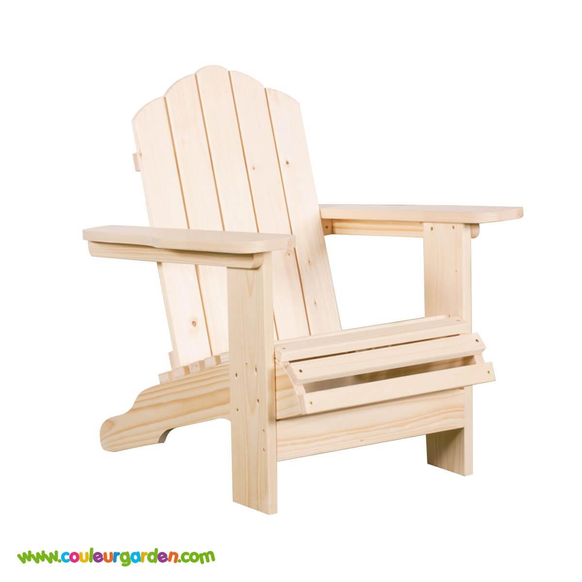 Fauteuil en bois enfant esprit scandinave avec larges accoudoirs ...