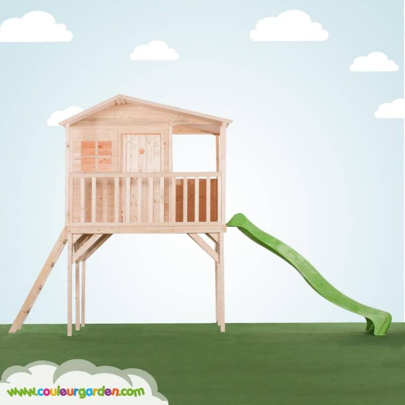 Maison enfant cottage avec terrasse sur pilotis - Cabane enfant