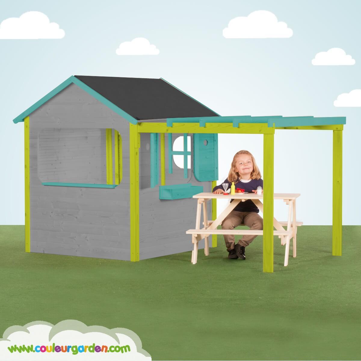 maisonnette plastique enfant fashion designs. Black Bedroom Furniture Sets. Home Design Ideas