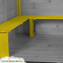 Maison enfant patio avec plancher et terrasse - Cabane enfant