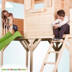 Grande cabane enfant patio sur pilotis - Cabane enfant