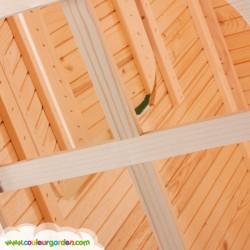 Maison enfant patio avec plancher et grande terrasse - Cabane enfant