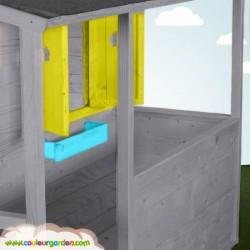 Maison cottage avec terrasse et plancher peinte