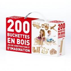 Boîte de 200 buchettes en bois