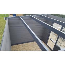 Abri composite à toit plat 3 x 3 m