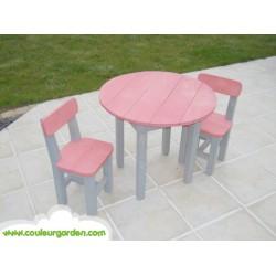 Table ronde pour enfants rose