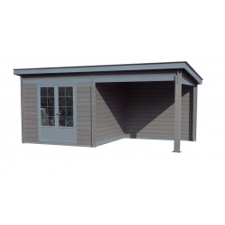 Abri composite à toit plat 6 x 3 m