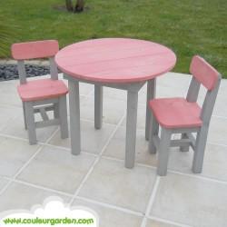 Chaise pour enfants roses x2
