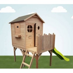 Maison sur pilotis avec toboggan brute - Cabane enfant