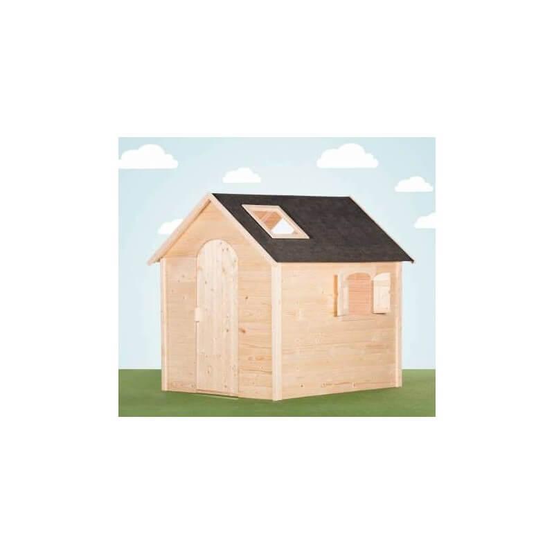 Grande maison de jardin enfant avec fenêtres sur le toit version brute - Cabane enfant
