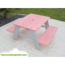 Table pique nique pour enfants rose