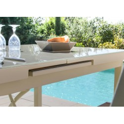 Table Ibiza ivoire 10/12 pers