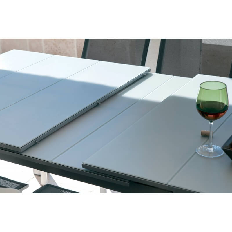 Table Vedra gris perle 8/10 pers