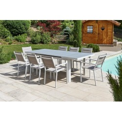 Table Vedra gris perle 6/8 pers