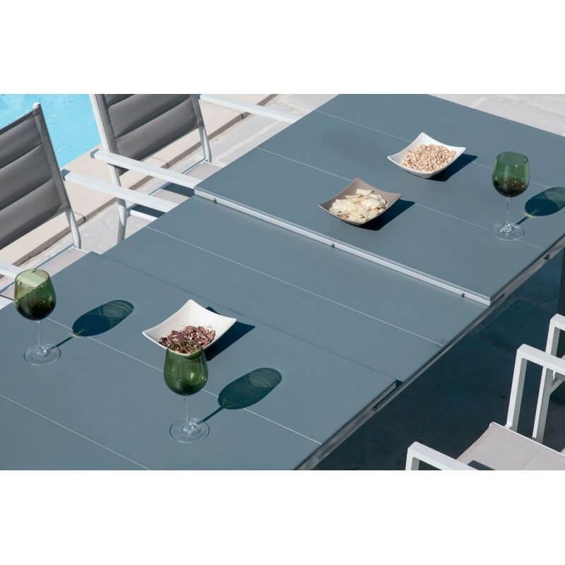 Table Tenerife gris bleuté 8/10 pers
