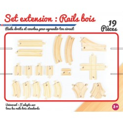 Set extension : rails en bois