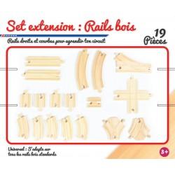 Set extension : rails en bois