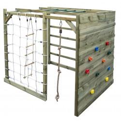 Aire de jeux/cube multi-escalade en bois