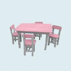 Salon de jardin enfant rose