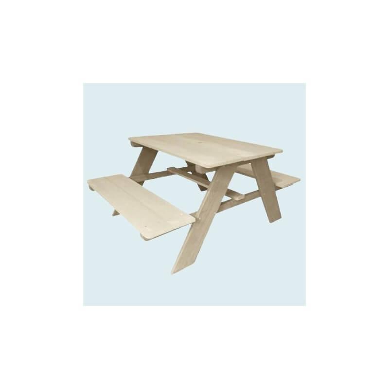"""Table pique nique XL pour enfants """"brute"""""""
