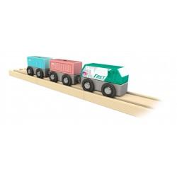 Train de fret SNCF en bois