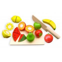 Set fruits et planche a découper