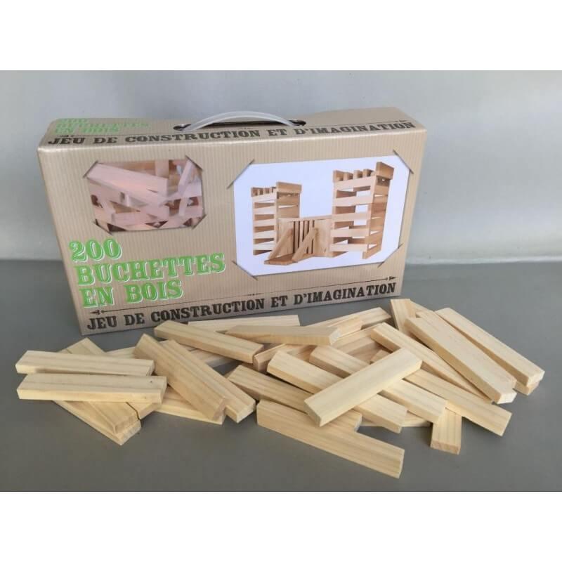 200 buchettes en bois