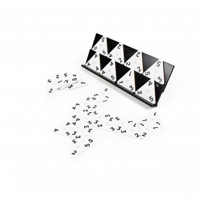 Jeu domino triangulaire en bois