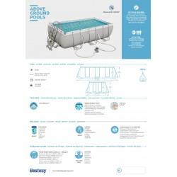 Piscine hors sol Power Steel™ 404 x 201 x 100 cm, filtre à cartouche, échelle, diffuseur Chemconnect™ COULEUR GARDEN