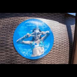 Piscine hors sol ronde Power Steel™ effet rotin SwimVista avec hublots diamètre 488 x 122 cm COULEUR GARDEN
