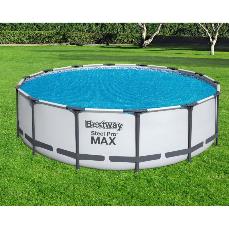 Bâche solaire diamètre 417 cm piscine hors sol ronde diamètre 427 à 457 cm COULEUR GARDEN