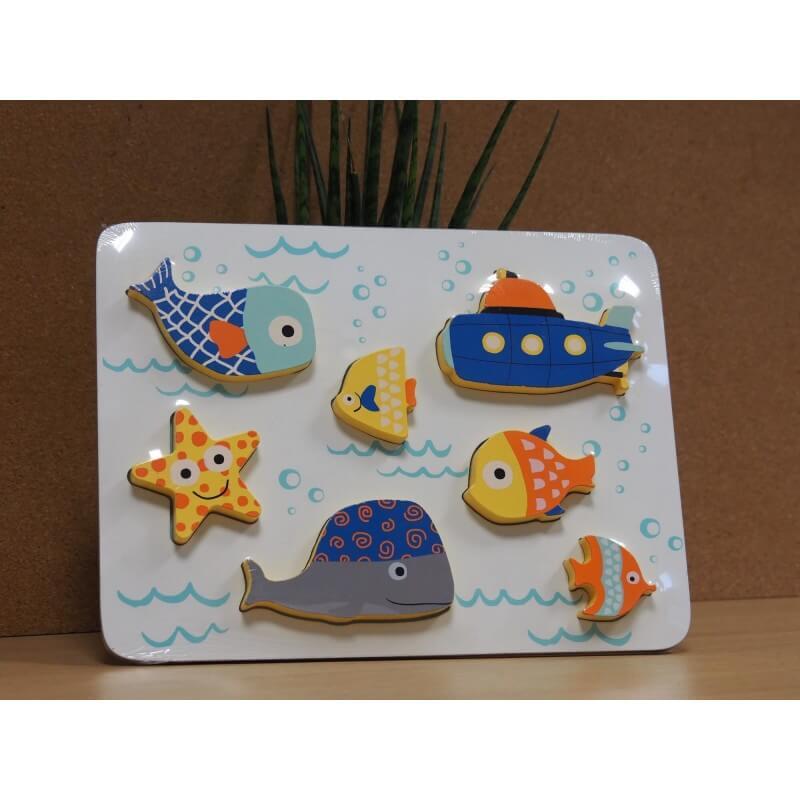 Puzzle 3D poissons