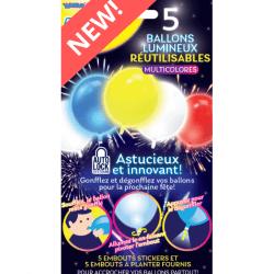 Sachet 5 ballons lumineux