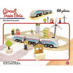 Circuit de train 60 pièces SNCF